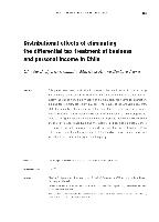 Distributional Effects Of Eliminating The Differential Tax Treatment Business And Personal Income In Chile