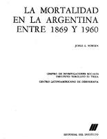 La Mortalidad En La Argentina Entre 1869 Y 1960 Digital Repository