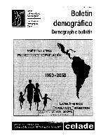 América Latina: proyecciones de población, 1950-2025 = Latin America: population projection, 1950-2025