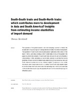 South-South trade and South-North trade  which contributes more to  development in Asia and South America  Insights from estimating income  elasticities of ... 11ef635ea44