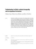 1723c9867717 Tertiarization in Chile: cultural inequality and occupational ...