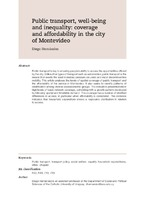 Public transport, well-being and inequality: coverage and