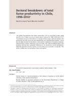 885571b86072 Sectoral breakdown of total factor productivity in Chile, 1996-2010 ...