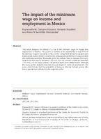 The Impact Of The Minimum Wage On Income And Employment In