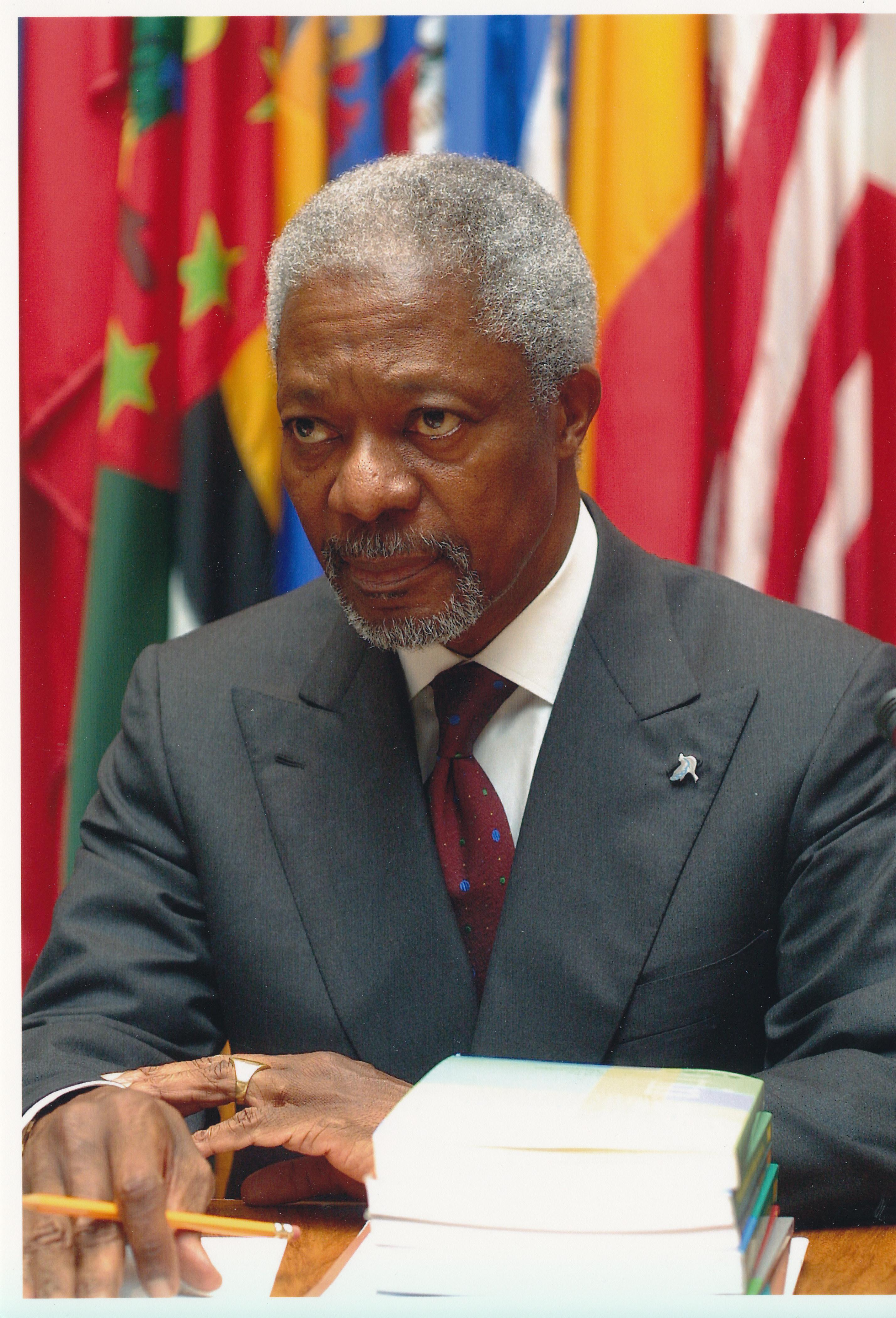 Visita Del Secretario General De La Onu Kofi Annan A La Cepal