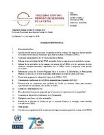 0dc168f501008 Temario provisional. Trigésimo séptimo período de sesiones de la ...