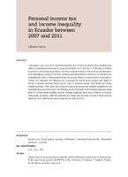 Personal Income Tax And Inequality In Ecuador Between 2007 2011
