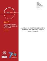Elisa Triani Calendario.Calendario De Conferencias De La Cepal Propuesto Para El
