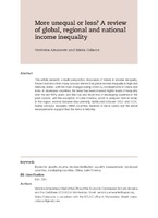 More Unequal Or Less A Review Of Global Regional And