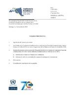 Temario provisional  Decimoséptima Reunión del Comité