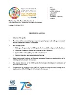 Provisional Agenda Third Meeting Of The Forum Of The Countries Of