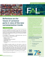 Reflections On The Future Of Container Ports In View Of The