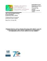 Proposed Regional Agenda For Inclusive Social Development