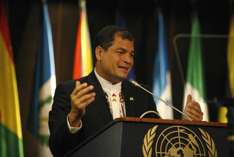 foto de Conferencia magistral del Presidente de Ecuador, Rafael Correa ...
