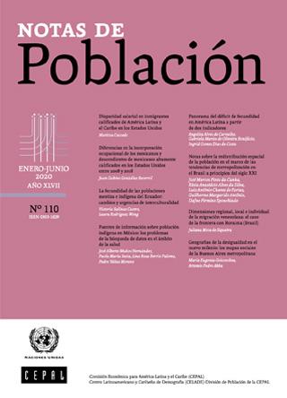 Notas de Población Vol. 47 N° 110