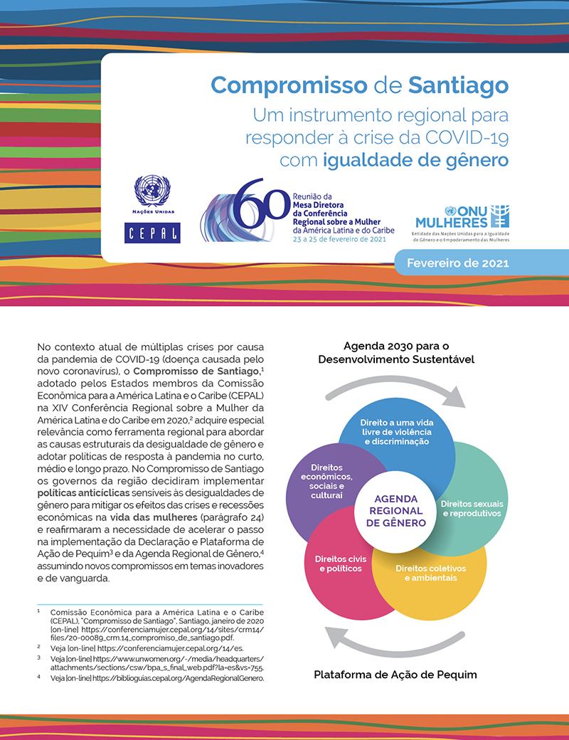 Compromisso de Santiago: Um instrumento regional para responder à crise da COVID-19 com igualdade de gênero