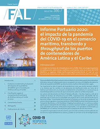 Informe Portuario 2020: el impacto de la pandemia del COVID-19 en el comercio marítimo, transbordo y throughput de los puertos de contenedores de América Latina y el Caribe