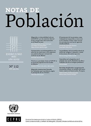 Notas de Población Vol. 48 N° 112