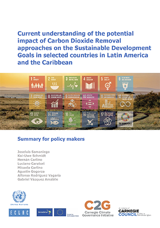 Current understanding of the potential impact of Carbon Dioxide Removal approaches on the Sustainable Development Goals in selected countries in Latin America and the Caribbean: Summary for policy makers