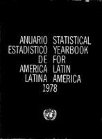 Anuario Estadístico De América Latina 1978 Statistical